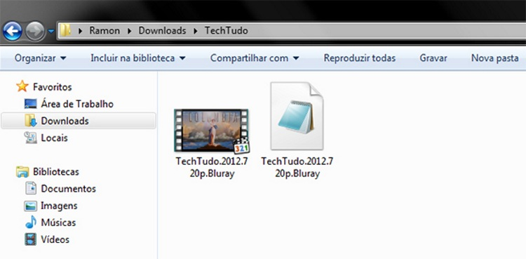 A legenda e o vídeo devem ter o mesmo nome de arquivo (Foto Reprodução Ramon Cardoso)